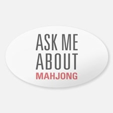 Mahjong - Ask Me About - Sticker (Oval)