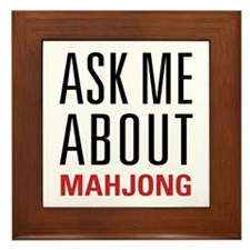 Mahjong - Ask Me About - Framed Tile