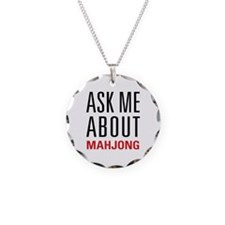 Mahjong - Ask Me About - Necklace