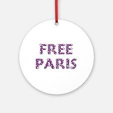 Free Paris Ornament (Round)