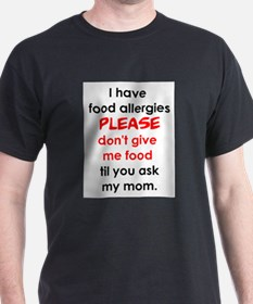 food allergies T-Shirt