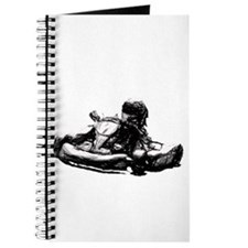 Kart Racer Pencil Sketch Journal