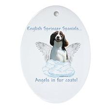 Springer Spaniel Angel Oval Ornament