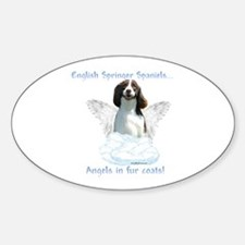 Springer Spaniel Angel Oval Decal