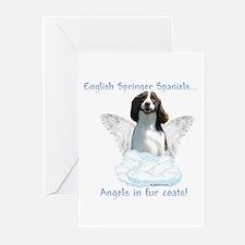 Springer Spaniel Angel Greeting Cards (Package of