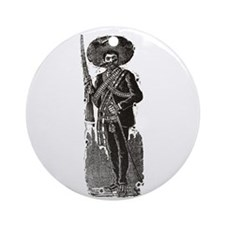 Emiliano Zapata - Posada Wood Ornament (Round)