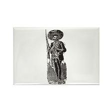 Emiliano Zapata - Posada Wood Rectangle Magnet