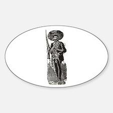Emiliano Zapata - Posada Wood Oval Decal