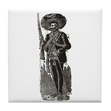 Emiliano Zapata - Posada Wood Tile Coaster