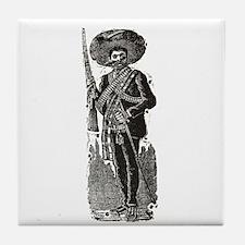 Emiliano Zapata - Posada Wood Tile Coaster