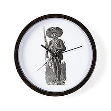 Emiliano Zapata - Posada Wood Wall Clock
