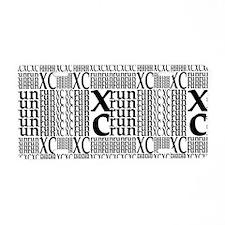XC Run Repeats Aluminum License Plate