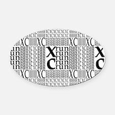 XC Run Repeats Oval Car Magnet