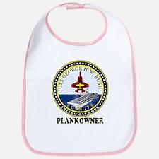 CVN-77 Plankonwer Crest Bib
