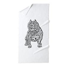 American Bully Dog Beach Towel