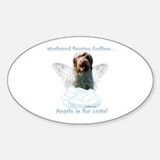 Wirehaired Angel Oval Decal