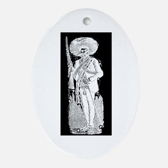 Emiliano Zapata - Mexican Rev Oval Ornament