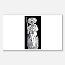 Emiliano Zapata - Mexican Rev Sticker (Rectangular