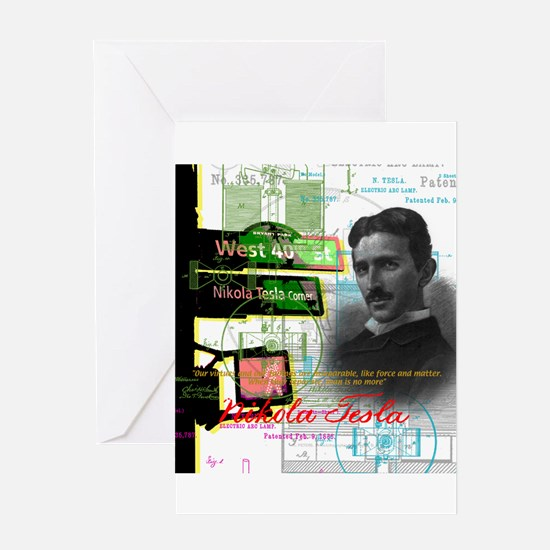 Nikola Tesla NY Greeting Cards