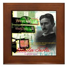 Nikola Tesla NY Framed Tile