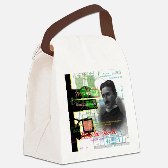 Nikola Tesla NY Canvas Lunch Bag