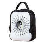 Black Starburst Yin Yang.png Neoprene Lunch Bag