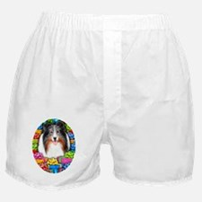 Sheltie Christmas Blue Merle Boxer Shorts