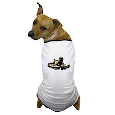 Kart Racer Sepia Tone Dog T-Shirt