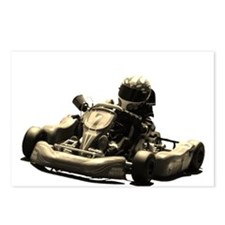 Kart Racer Sepia Tone Postcards (Package of 8)