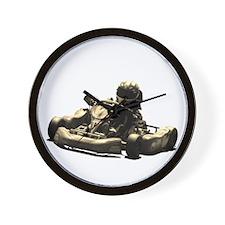 Kart Racer Sepia Tone Wall Clock