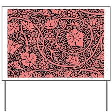 Vintage Floral Wallpaper Grape Pattern Yard Sign