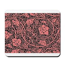 Vintage Floral Wallpaper Grape Pattern Mousepad