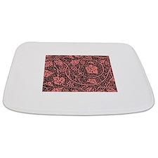 Vintage Floral Wallpaper Grape Pattern Bathmat