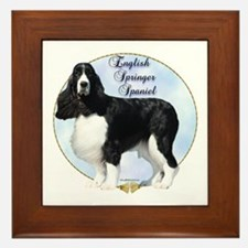 Springer Spaniel Portrait Framed Tile