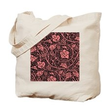Vintage Floral Wallpaper Grape Pattern Tote Bag