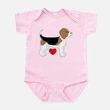 Beagle Love Infant Bodysuit