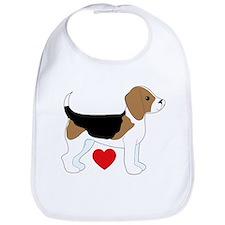 Beagle Love Bib