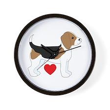 Beagle Love Wall Clock