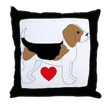 Beagle Love Throw Pillow