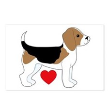 Beagle Love Postcards (Package of 8)
