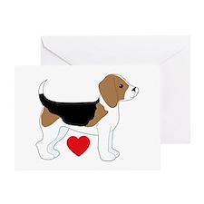 Beagle Love Greeting Card