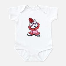 KiniArt Westie Flapper 3 Infant Bodysuit