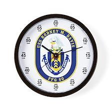 USS Rodney M. Davis FFG-60 Wall Clock