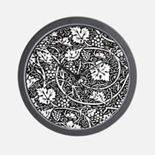 Vintage Floral Wallpaper Grape Pattern Wall Clock