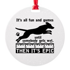 Dock Jumping Dog Ornament