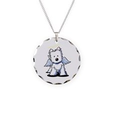 KiniArt Westie Angel Necklace