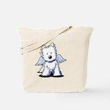 KiniArt Westie Angel Tote Bag