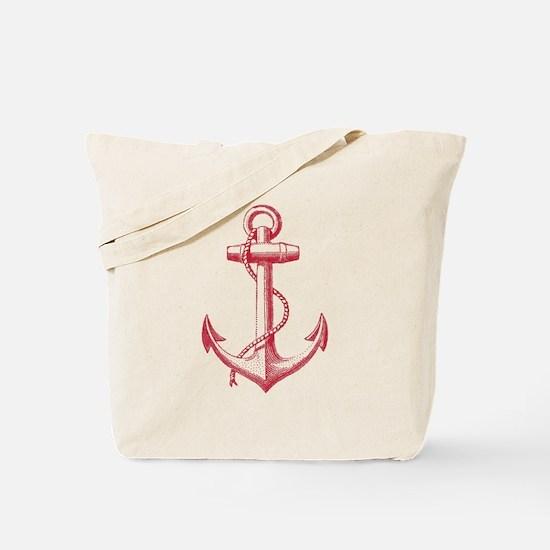 vintage red anchor Tote Bag