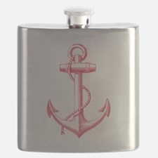 vintage red anchor Flask