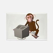 Code Monkey 3 Rectangle Magnet (10 pack)